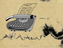 Máquina de escribir stock de ilustración