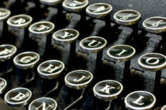 Máquina de escribir antigua 1 Foto de archivo libre de regalías