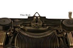 Máquina de escribir con el extremo Foto de archivo