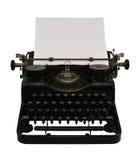 Máquina de escribir con el papel Fotos de archivo libres de regalías