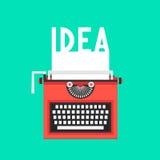 Máquina de escribir con el texto de la idea en la hoja blanca Imagen de archivo libre de regalías