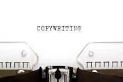 Máquina de escribir Copywriting fotos de archivo
