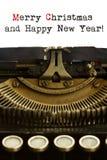 Máquina de escribir de la Feliz Año Nuevo Imagen de archivo libre de regalías