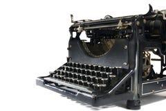 Máquina de escribir de la vendimia en blanco Fotos de archivo libres de regalías