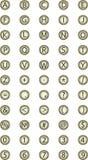 Máquina de escribir del botón Imagen de archivo libre de regalías