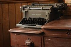 Máquina de escribir del sotobosque Fotos de archivo