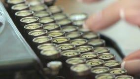 Máquina de escribir del vintage almacen de metraje de vídeo