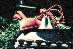 Máquina de escribir del vintage para la Navidad Imágenes de archivo libres de regalías