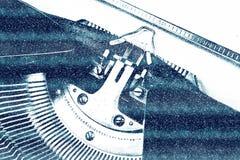 Máquina de escribir del vintage para la Navidad Foto de archivo