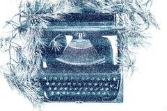 Máquina de escribir del vintage para la Navidad Imagenes de archivo