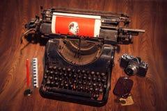 Máquina de escribir mecánica Foto de archivo libre de regalías