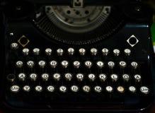 Máquina de escribir negra del vintage Foto de archivo