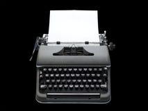 Máquina de escribir portable de la vendimia, aislada Imágenes de archivo libres de regalías