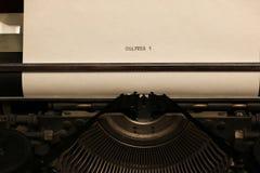 Máquina de escribir retra Imágenes de archivo libres de regalías