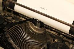 Máquina de escribir retra Fotografía de archivo libre de regalías