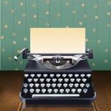 Máquina de escribir retra del estilo ilustración del vector