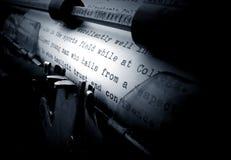 Máquina de escribir vieja Fotos de archivo