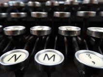 Máquina de escribir vieja clásica Fotografía de archivo