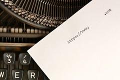 Máquina de escribir vieja con el HTTP del texto Foto de archivo libre de regalías