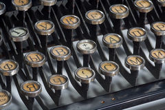 Máquina de escribir vieja de la vendimia Fotografía de archivo