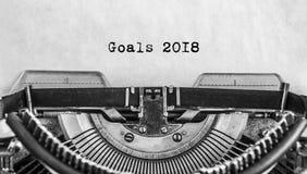 Máquina de escribir vieja del vintage con un Año Nuevo Imagenes de archivo