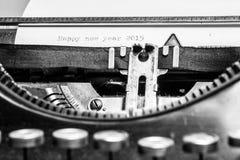 Máquina de escribir vieja - Feliz Año Nuevo 2015 Imagen de archivo libre de regalías