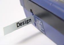 Máquina de escritura de la etiqueta foto de archivo