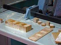 Máquina de estaca de madeira imagens de stock