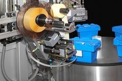 Máquina de etiquetado Imágenes de archivo libres de regalías