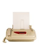 Máquina de fax da tecnologia Fotografia de Stock Royalty Free