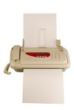 máquina de fax isolada Fotografia de Stock