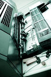 Máquina de impresión en offset Fotos de archivo libres de regalías