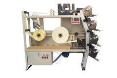 Máquina de impressão da etiqueta Fotos de Stock