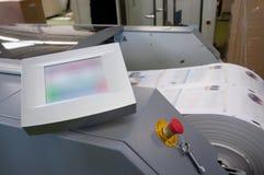 Máquina de impressão da imprensa de Digitas foto de stock royalty free
