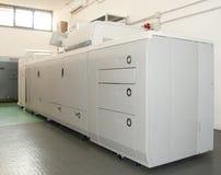 Máquina de impressão da imprensa de Digitas imagens de stock