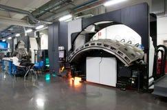 Máquina de impressão: imprensa de Web digital imagens de stock