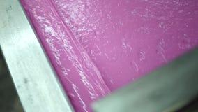 Máquina de impressão industrial da tela de seda na ação video estoque