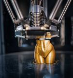 Máquina de impressão tridimensional Foto de Stock Royalty Free