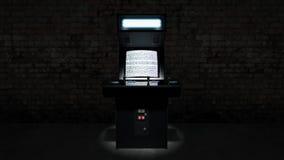 Máquina de jogo de arcada do vintage Imagem de Stock