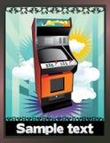 Máquina de juego retra   Imagen de archivo libre de regalías