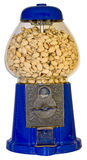 Máquina de la bola de goma con los pistachos Foto de archivo libre de regalías