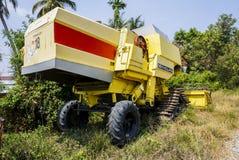 Máquina de la cosecha del arroz Imagen de archivo