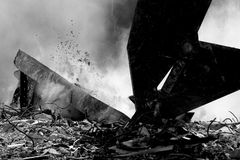 Máquina de la demolición Fotografía de archivo