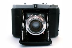 Máquina de la foto de la vista delantera Fotografía de archivo
