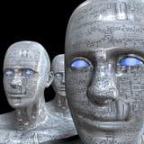 Máquina de la gente - inteligencia artificial. Foto de archivo libre de regalías