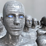 Máquina de la gente - inteligencia artificial. Imagen de archivo libre de regalías