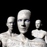 Máquina de la gente - inteligencia artificial. Imagenes de archivo