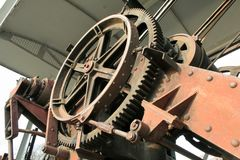 Máquina de la grúa Fotos de archivo libres de regalías