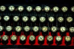Máquina de la máquina de escribir de la vendimia fotografía de archivo libre de regalías