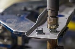 Máquina de la soldadura por puntos Fotos de archivo libres de regalías